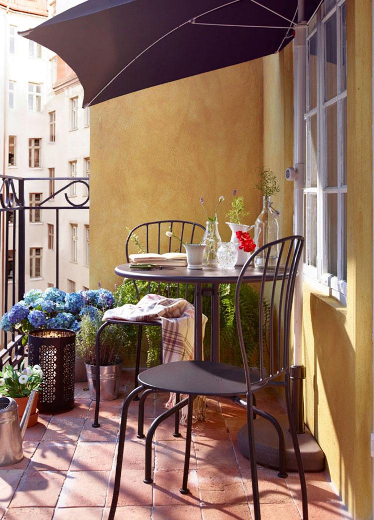 Idee per arredare un balcone Ikea n.12