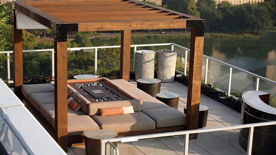 Idee di arredamento per terrazzo di design n.09