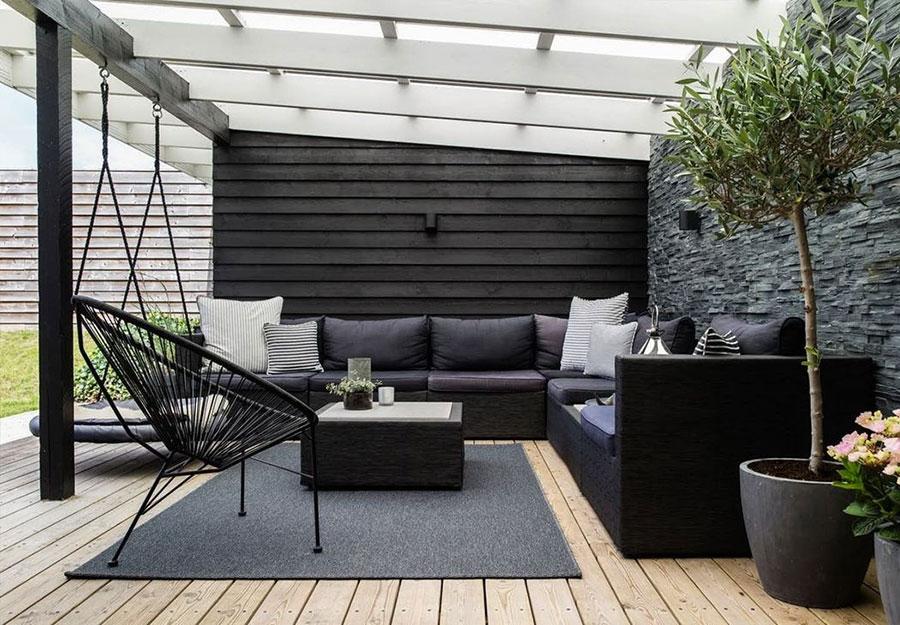 Idee di arredamento per terrazzo di design n.11