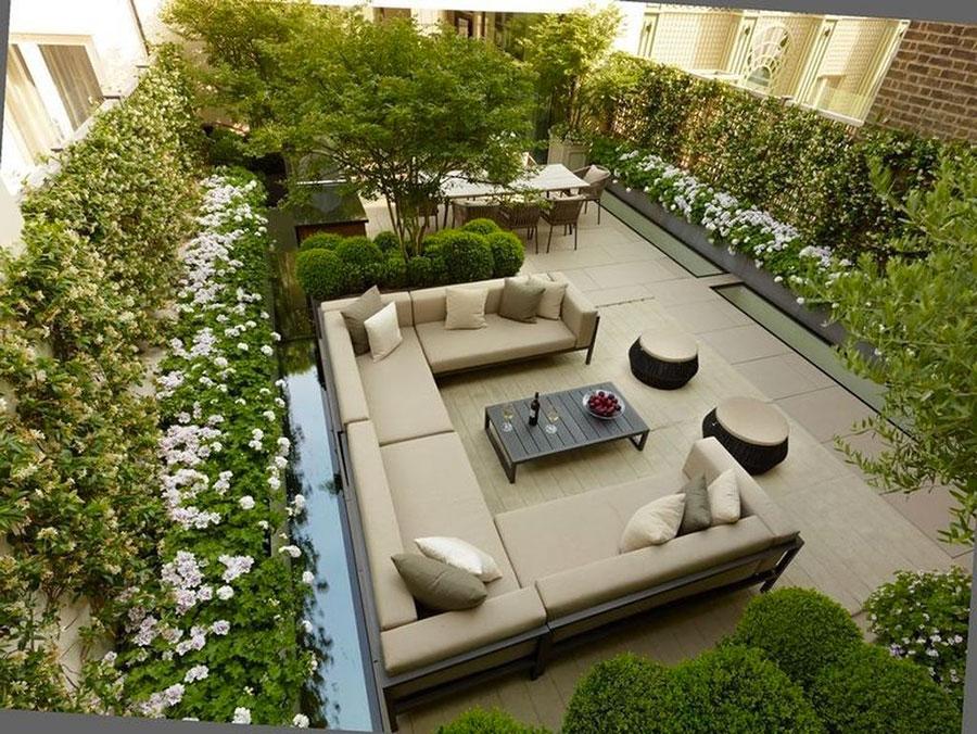 Idee di arredamento per terrazzo di design n.13