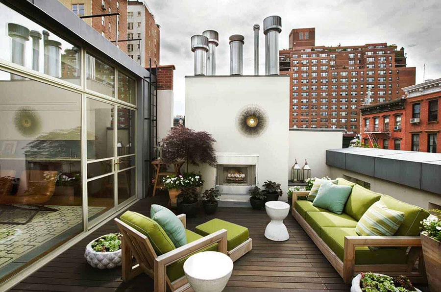 Idee di arredamento per terrazzo di design n.15