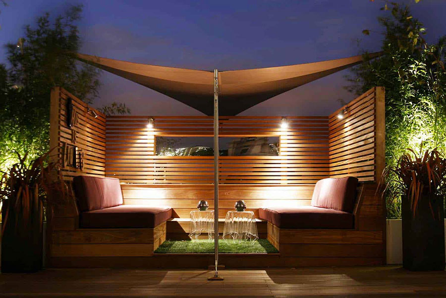 Idee di arredamento per terrazzo di design n.21
