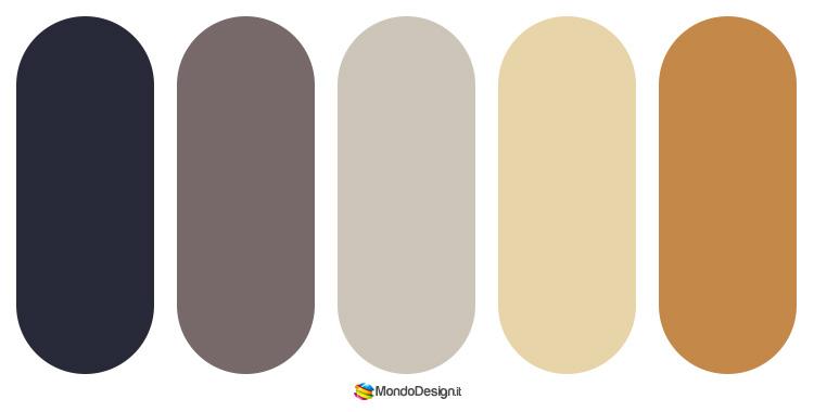 Palette abbinamenti color tortora 1