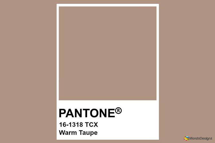 Identificazione del color tortora Pantone