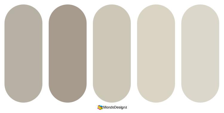 Diverse sfumature del color tortora