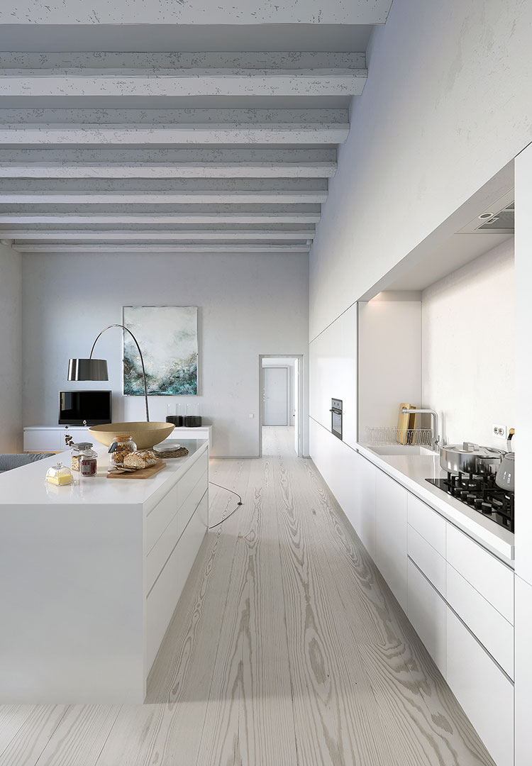 Idee per arredare una cucina bianca n.01