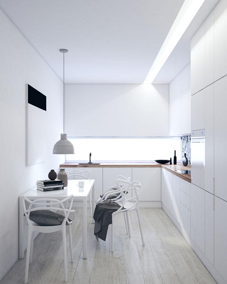 Idee per arredare una cucina bianca n.04