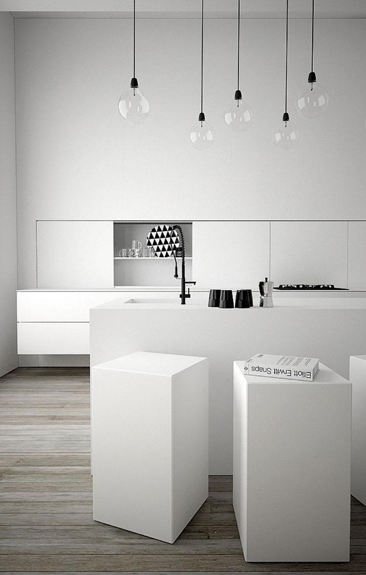 Idee per arredare una cucina bianca n.07