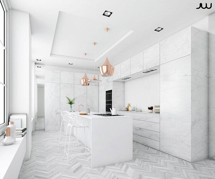 Idee per arredare una cucina bianca n.12