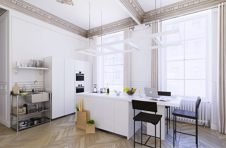 Idee per arredare una cucina bianca n.14