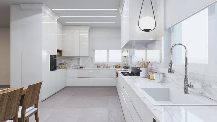 Idee per arredare una cucina bianca n.18