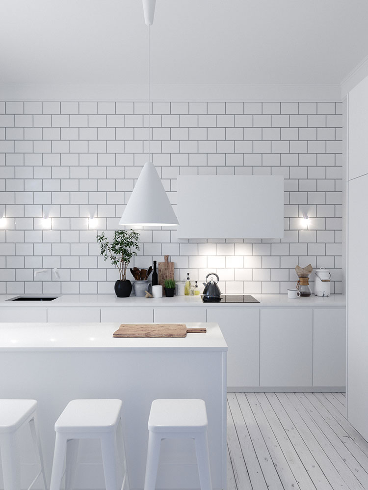 Idee per arredare una cucina bianca n.19