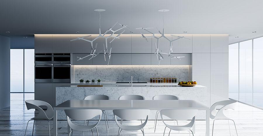 Idee per arredare una cucina bianca n.24