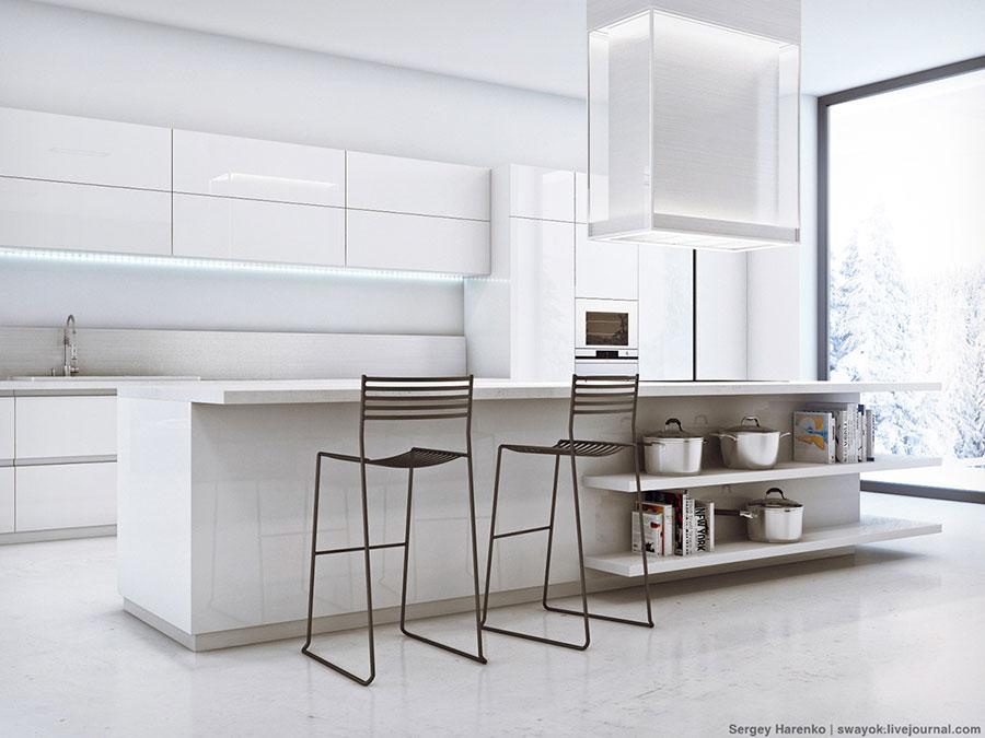 Idee per arredare una cucina bianca n.25