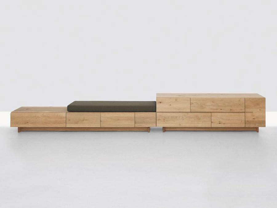 Modello di panca per ingresso di design n.01