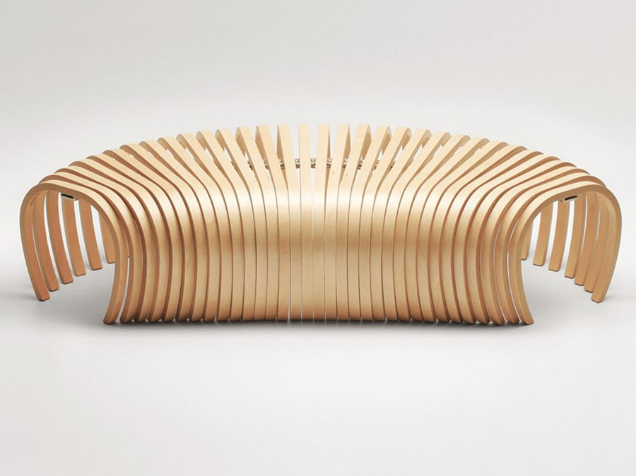 Modello di panca per ingresso di design n.09