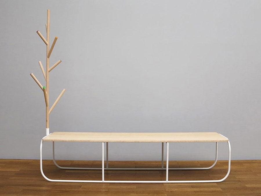 Modello di panca per ingresso di design n.12