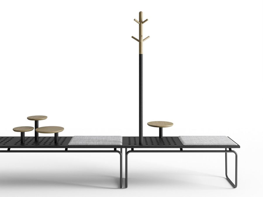 Modello di panca per ingresso di design n.13