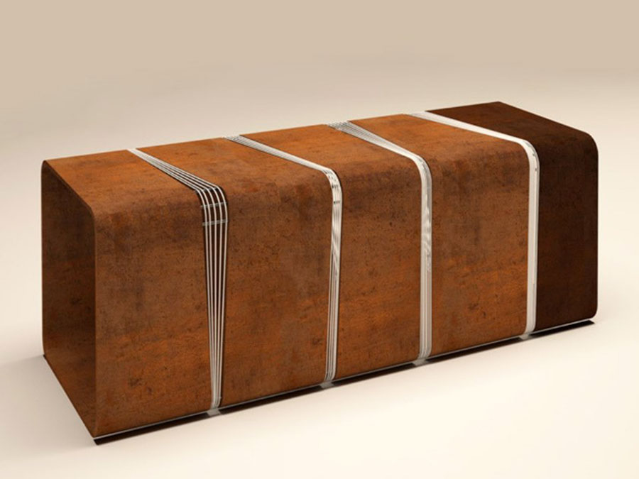 Modello di panca per ingresso di design n.15