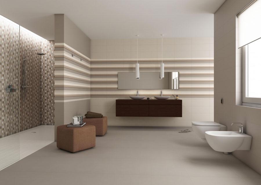Bagno con pareti color tortora n.1