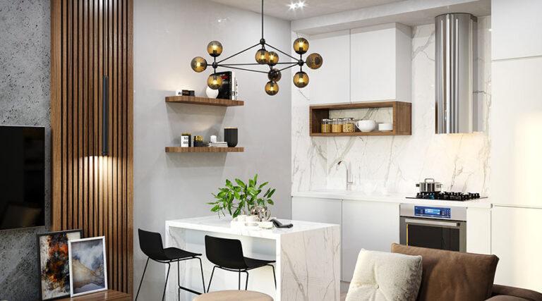 40 Idee per Soggiorno con Cucina a Vista   MondoDesign.it