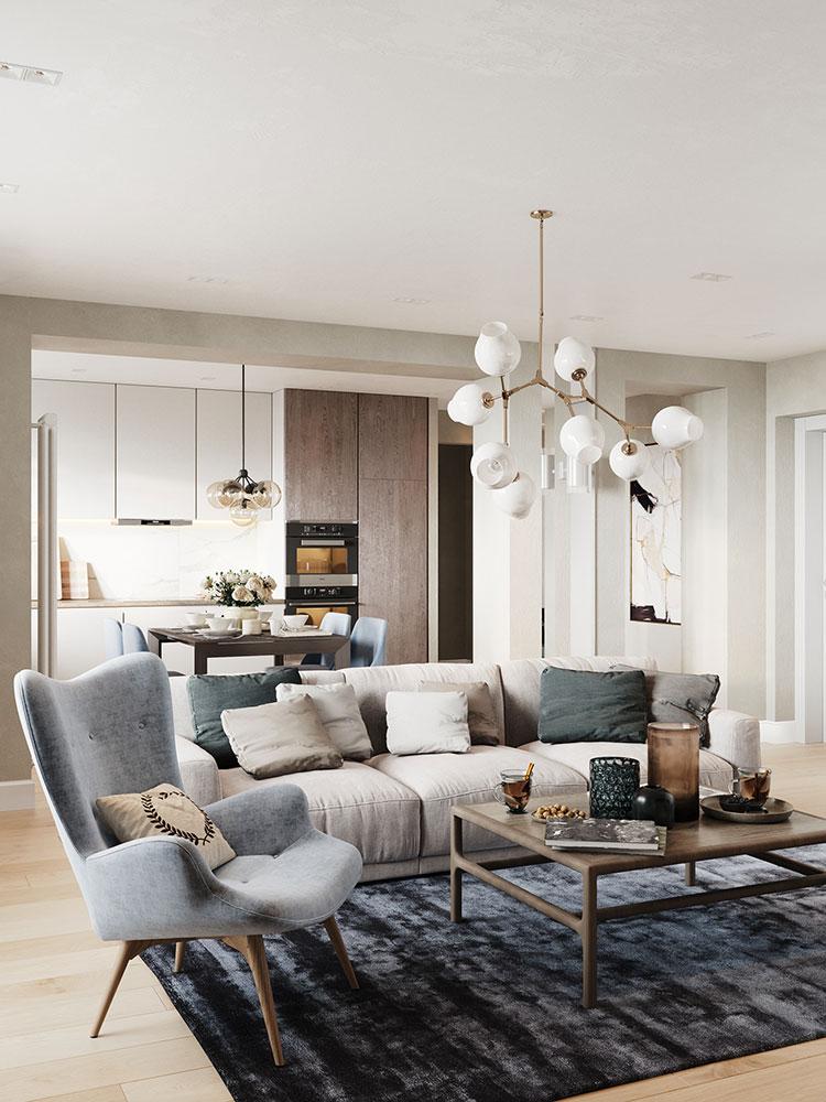 40 idee per soggiorno con cucina a vista for Soluzioni soggiorno
