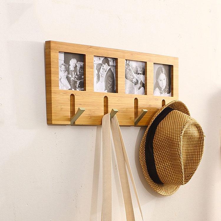 Modello di appendiabiti da parete in legno in stile classico n.02