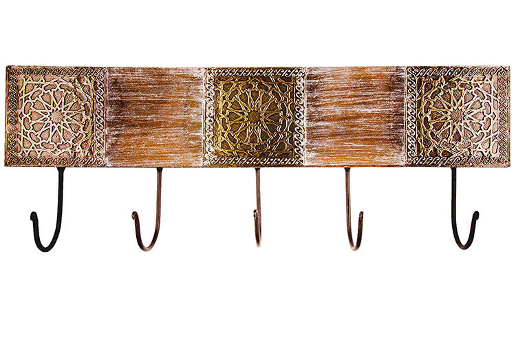 Modello di appendiabiti da parete in legno in stile classico n.05