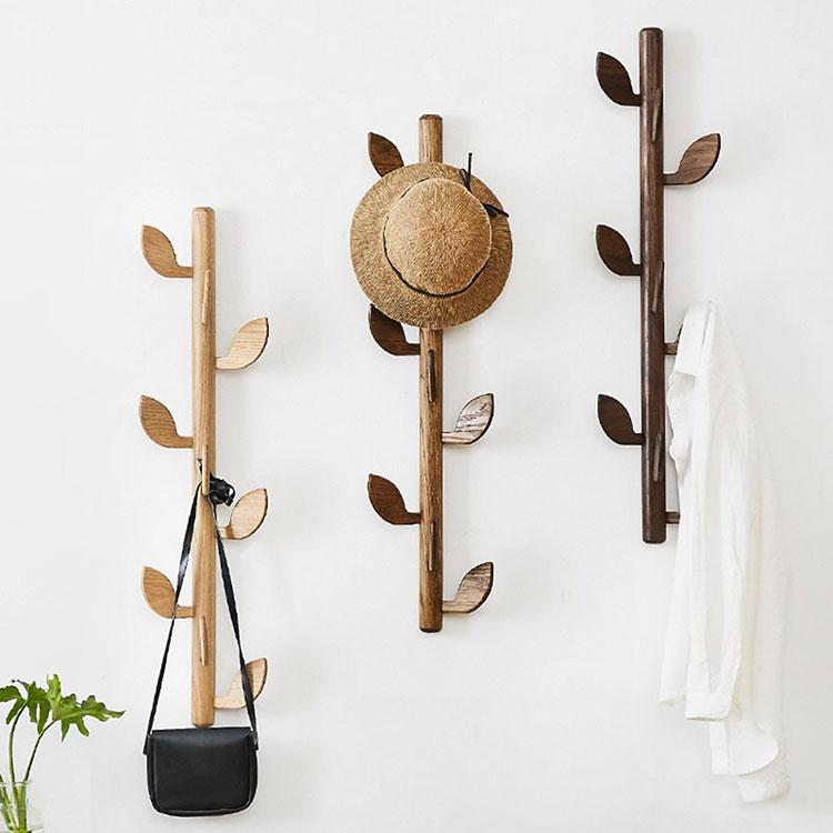 Modello di appendiabiti da parete in legno in stile moderno n.04