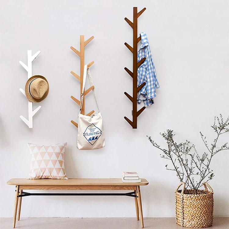 Modello di appendiabiti da parete in legno in stile moderno n.05