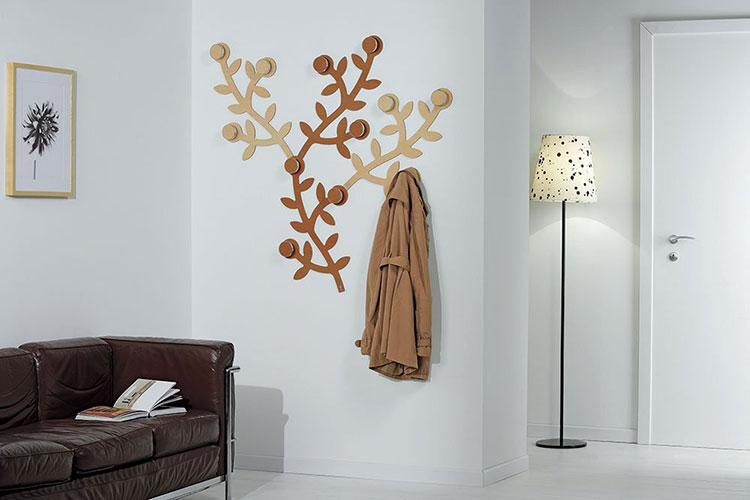 Modello di appendiabiti da parete in legno in stile moderno n.06