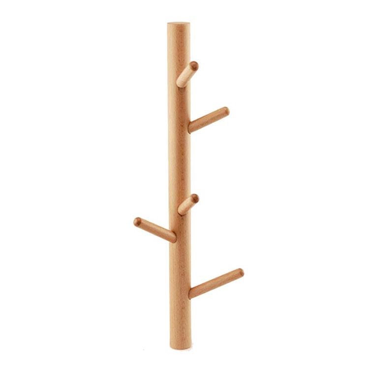 Modello di appendiabiti da parete in legno in stile moderno n.07
