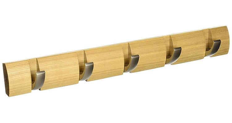 Modello di appendiabiti da parete in legno in stile moderno n.09