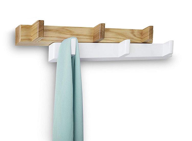Modello di appendiabiti da parete in legno in stile moderno n.11