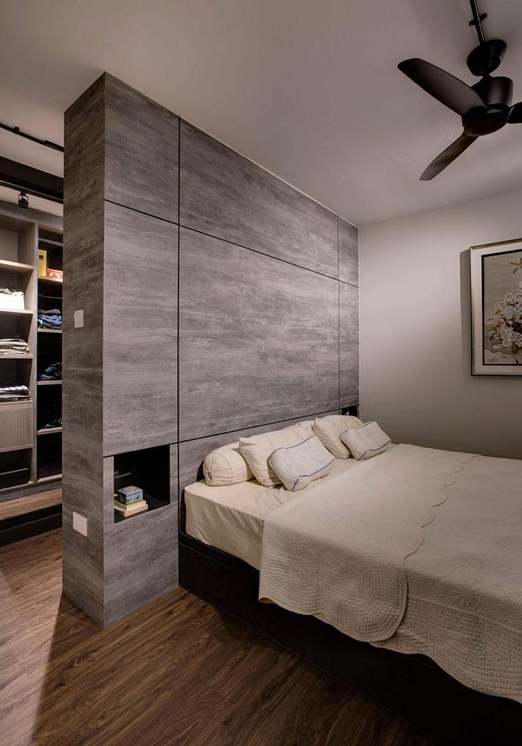 Parete Dietro Letto Idee 18 idee per creare una cabina armadio dietro al letto