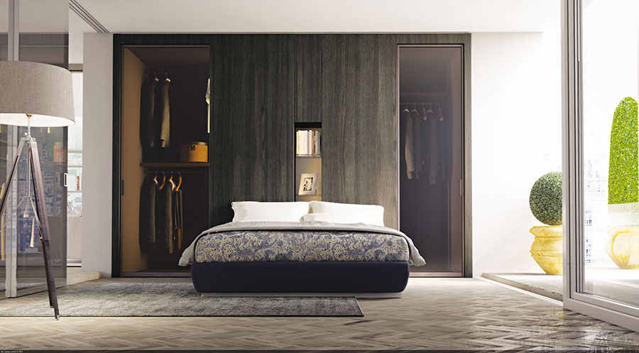 Come arredare una camera da letto piccola con cabina armadio n.06