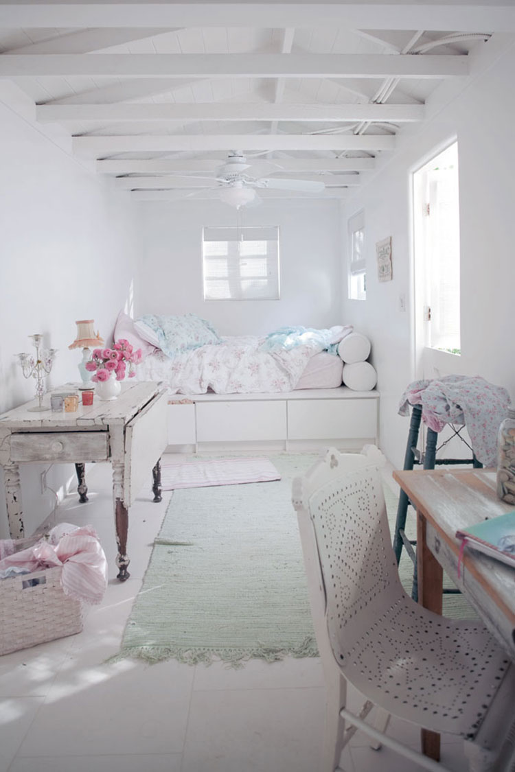 Come arredare la camera da letto di una casa al mare shabby chic 1