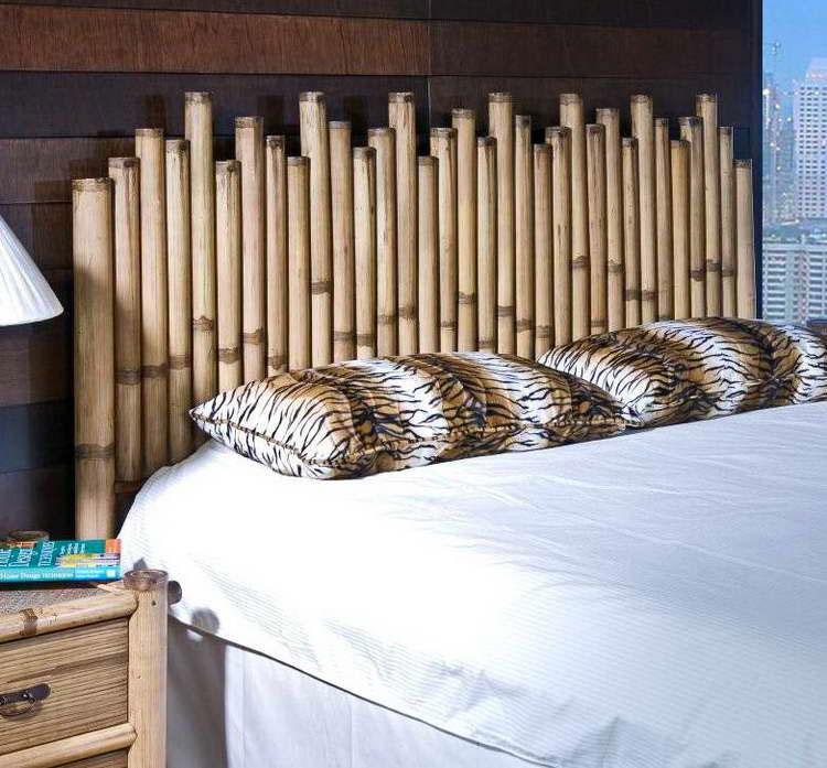 Testiera letto fai da te in bambu 3