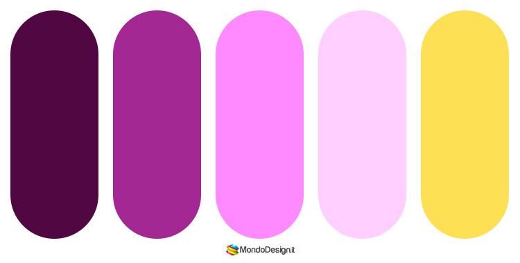 Abbinamenti e palette con il magenta 4