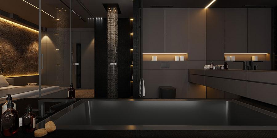 Arredamento completo per bagno in camera da letto n.06