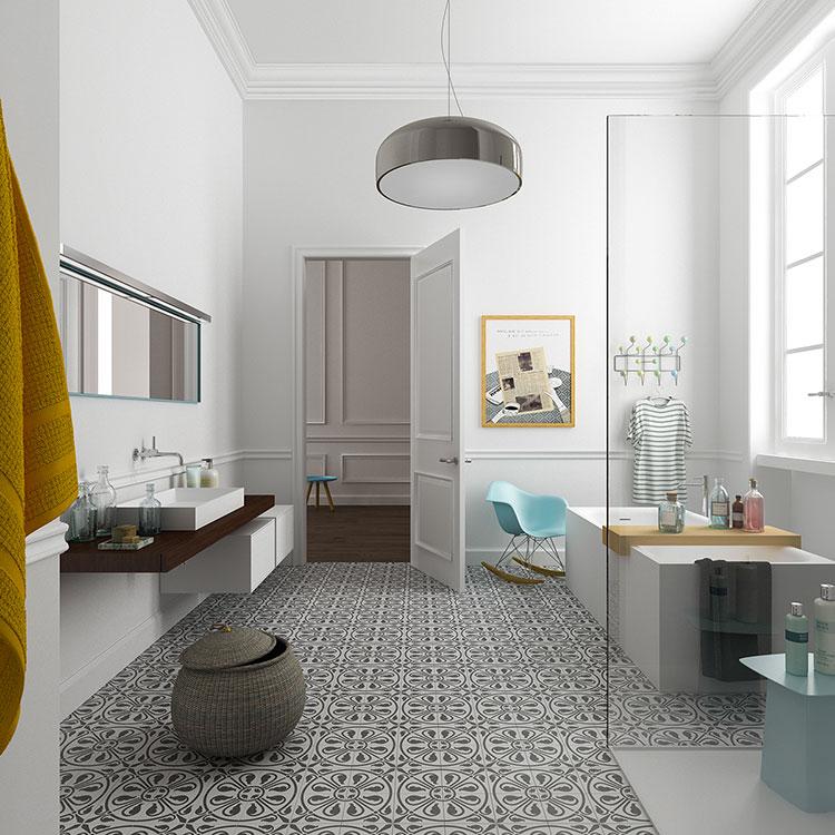 Arredamento completo per bagno in camera da letto n.09
