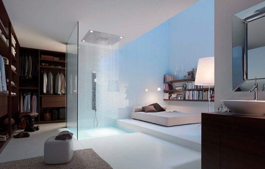 Arredamento per bagno in camera da letto con doccia n.4
