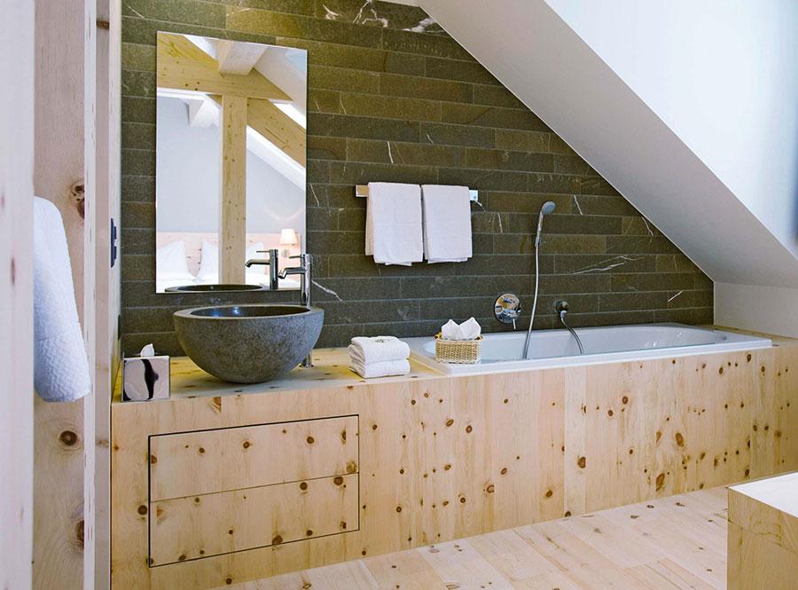 Arredamento di un bagno in mansarda 2