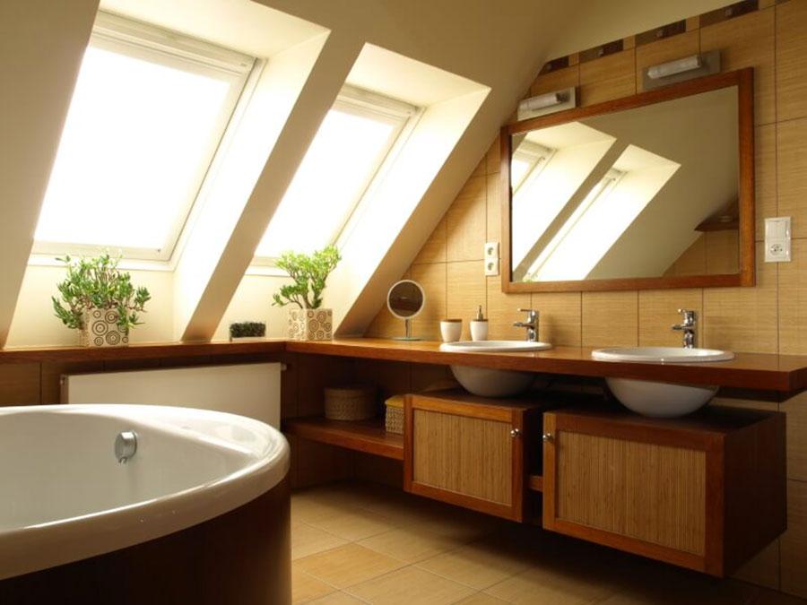 Arredamento di un bagno in mansarda 3