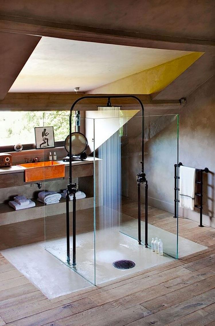 Progetto di un bagno in mansarda con doccia 4