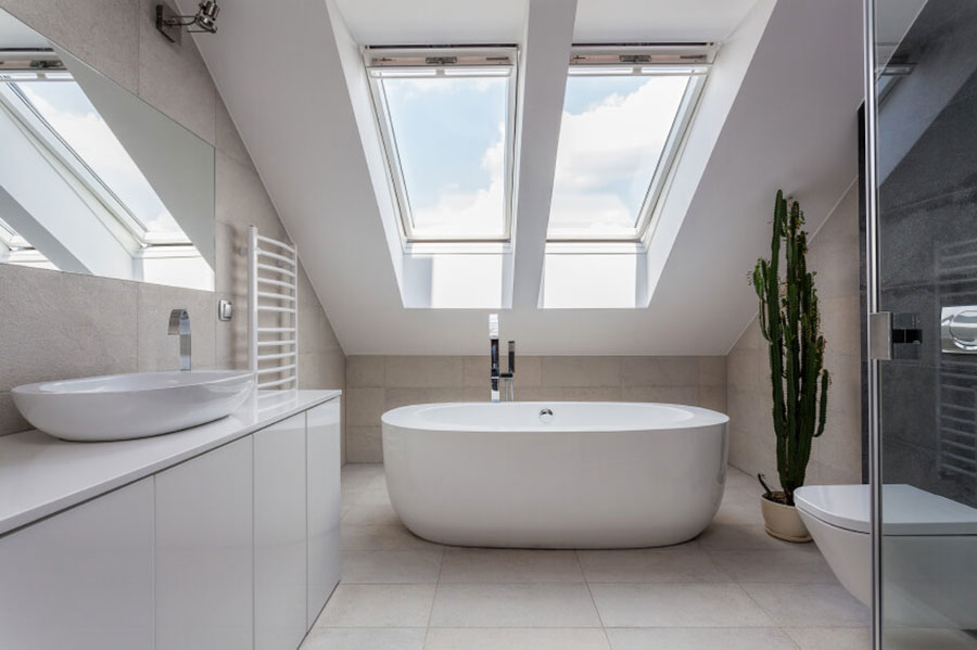 Luce per un bagno in mansarda 3