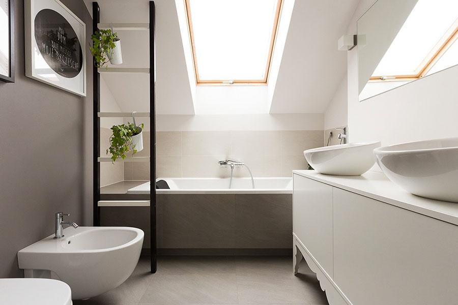 Progetto di un bagno in mansarda 1