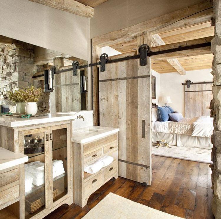 Idee per arredare un bagno rustico chic 3