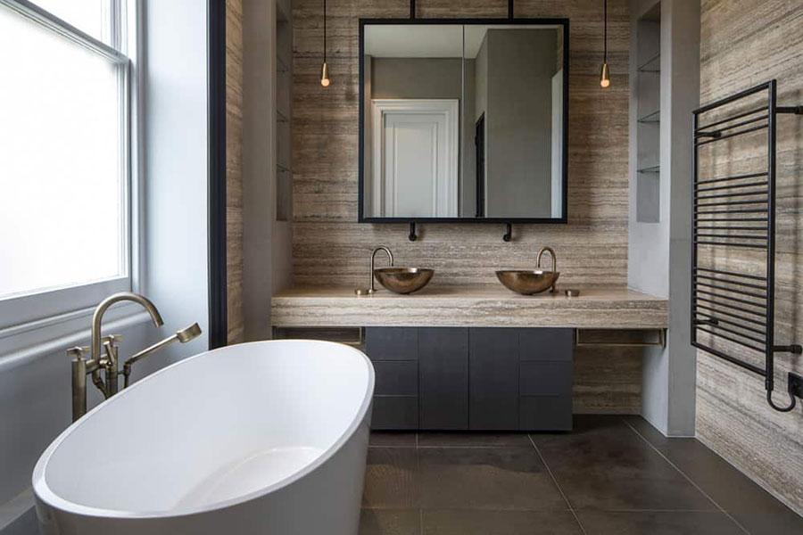 Idee per arredare un bagno rustico moderno 2