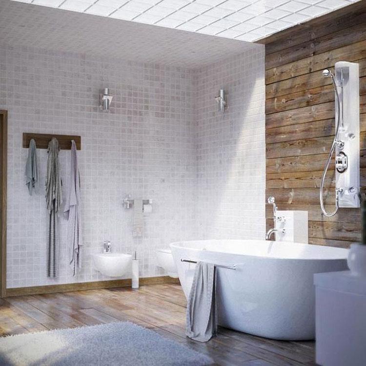 Idee per arredare un bagno rustico moderno 3